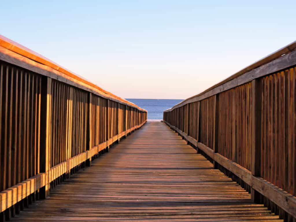 board walk to beach