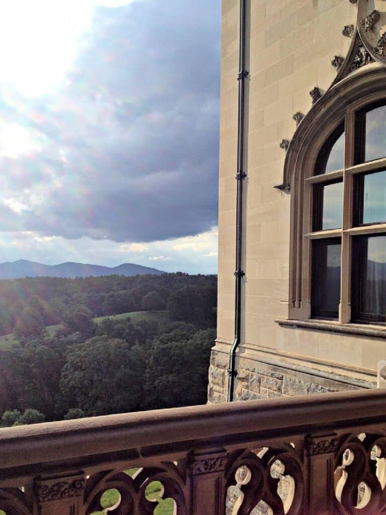 View from Biltmore Estate looking at the mountains