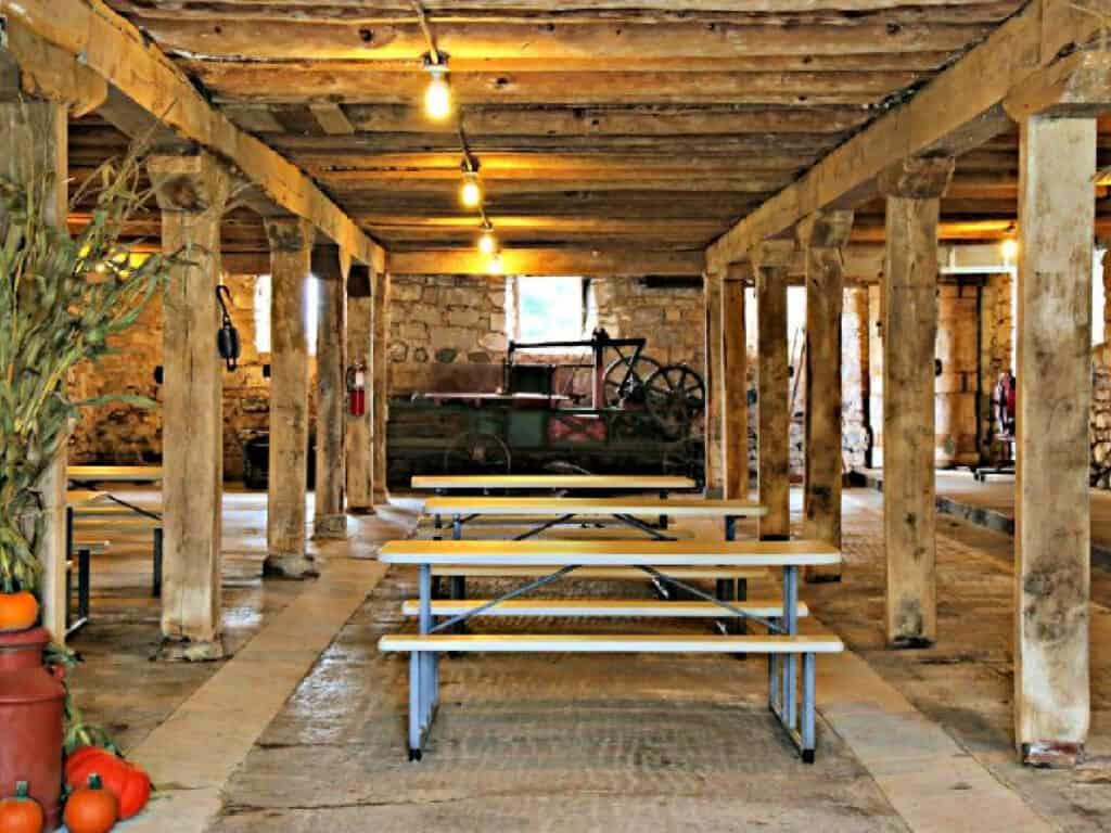 rustic wedding venue in a barn