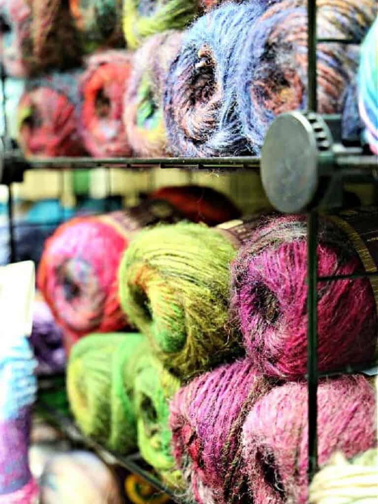 yarn on shelves
