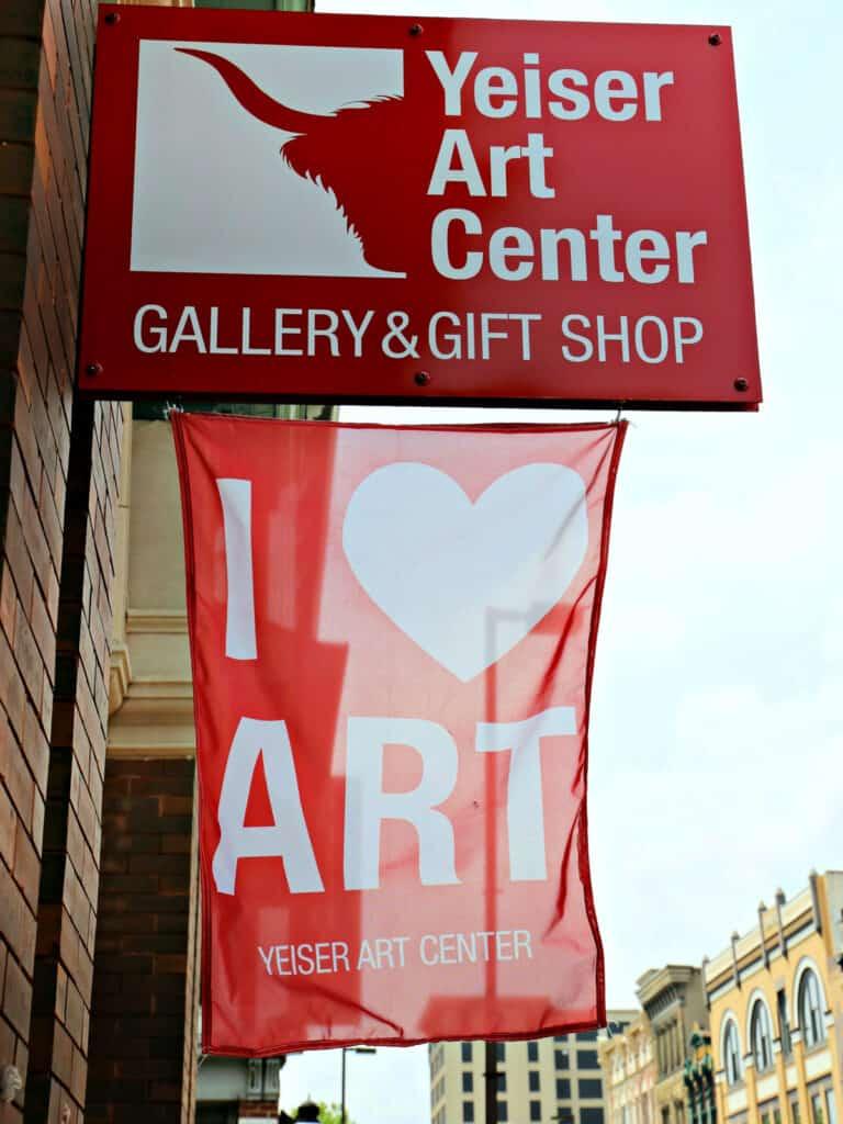 Yeiser Art Center sign