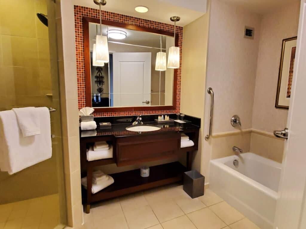 hotel bath vanity