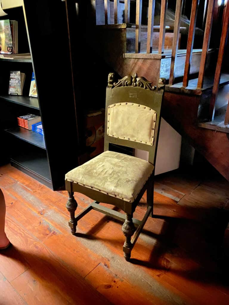 chair in carriage house
