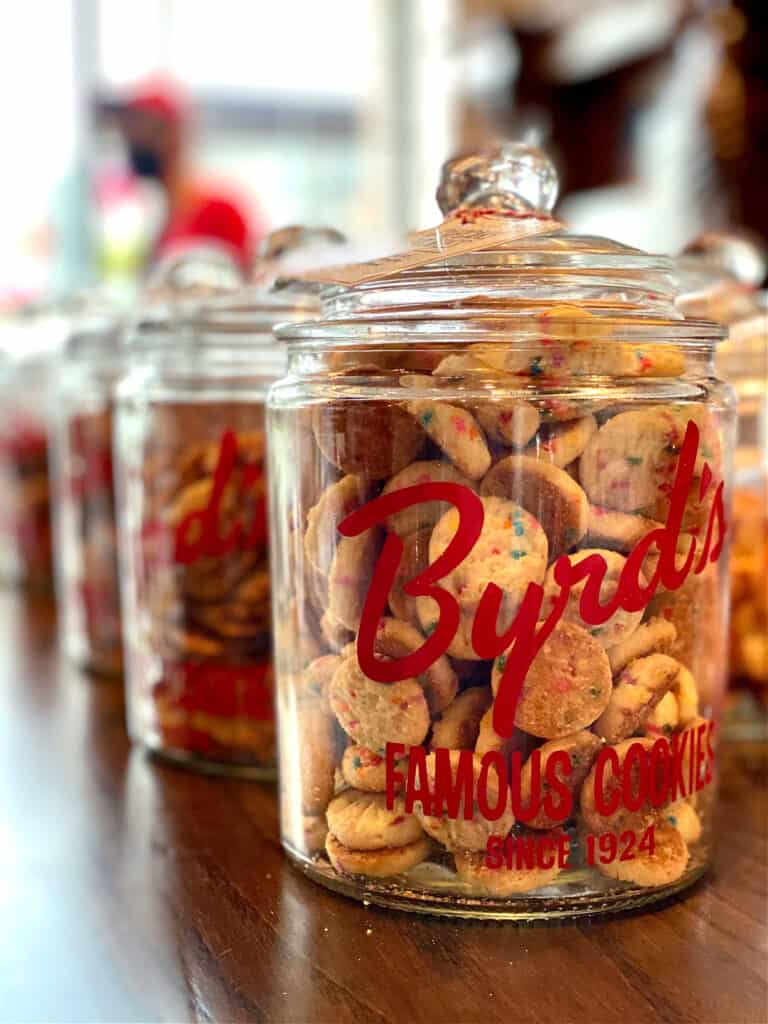 cookies in Byrd's Famous Cookies jar