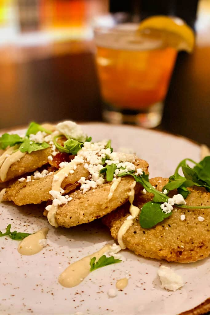 plate of fried green tomatoes