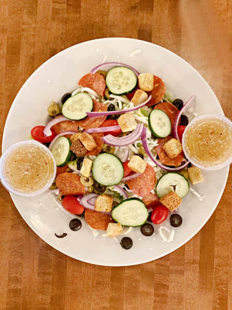 Italian salad on a plate