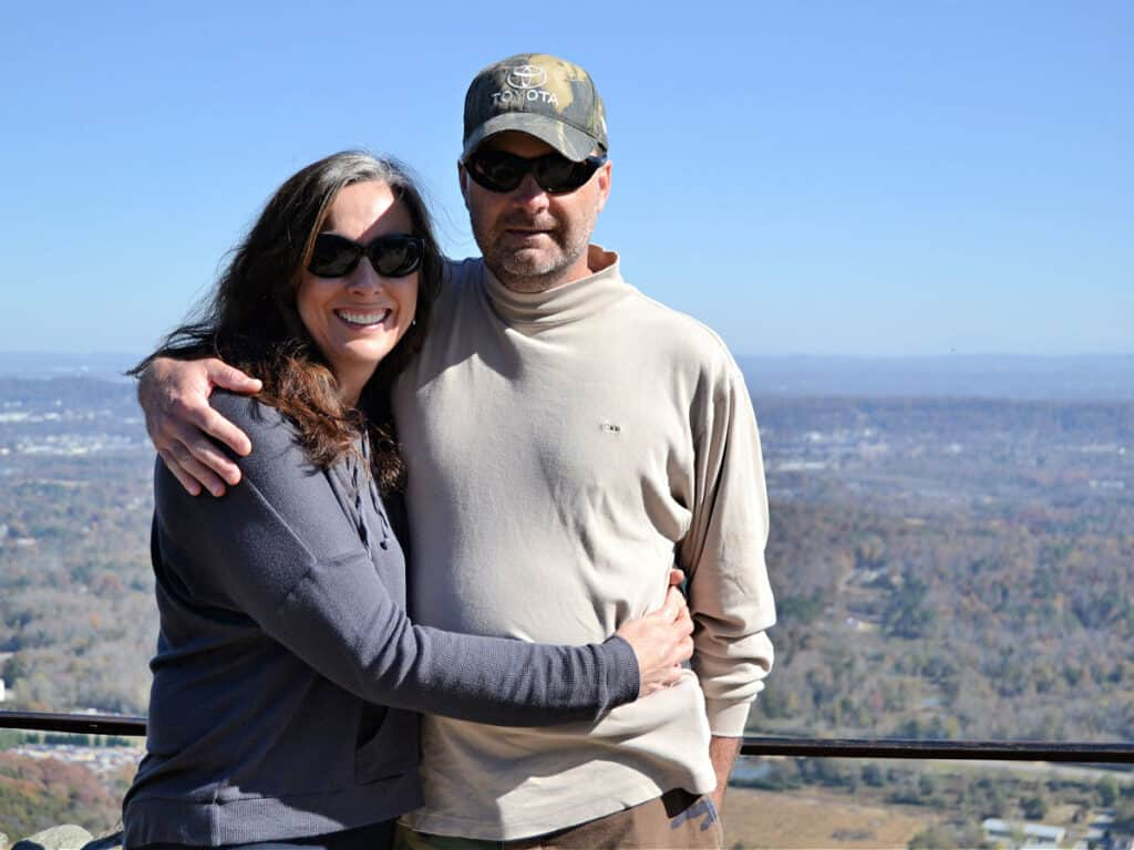 couple in front of Chattanooga