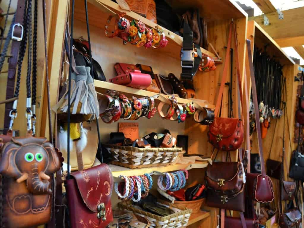 leather goods for sale