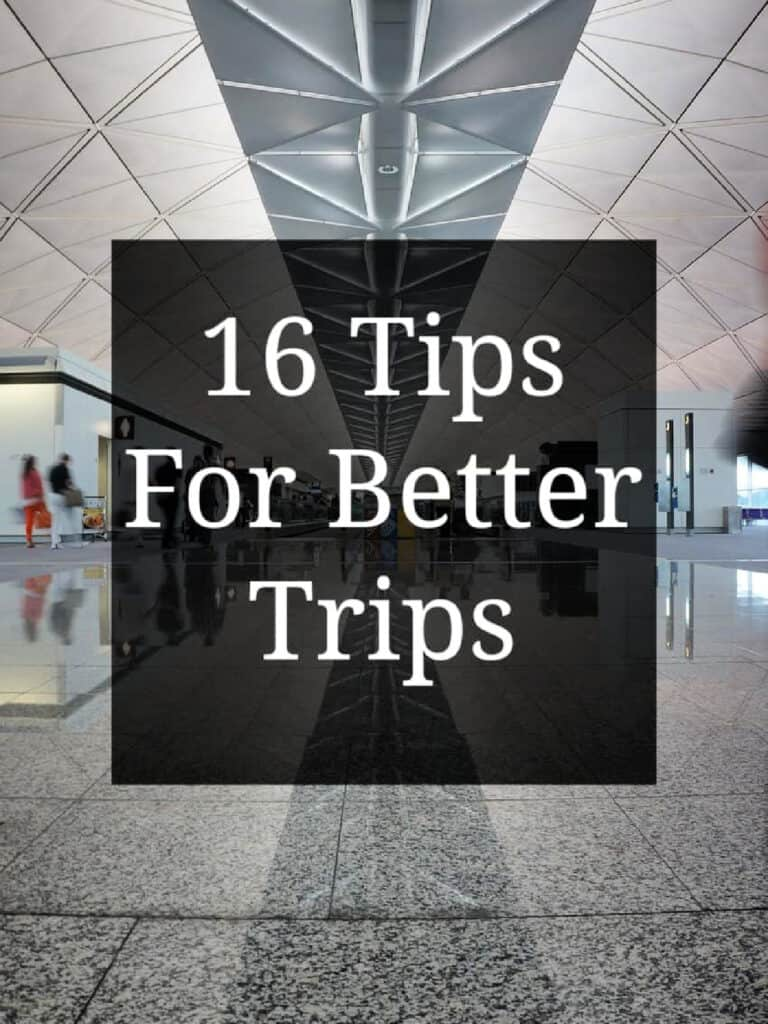 tips for better trips sign