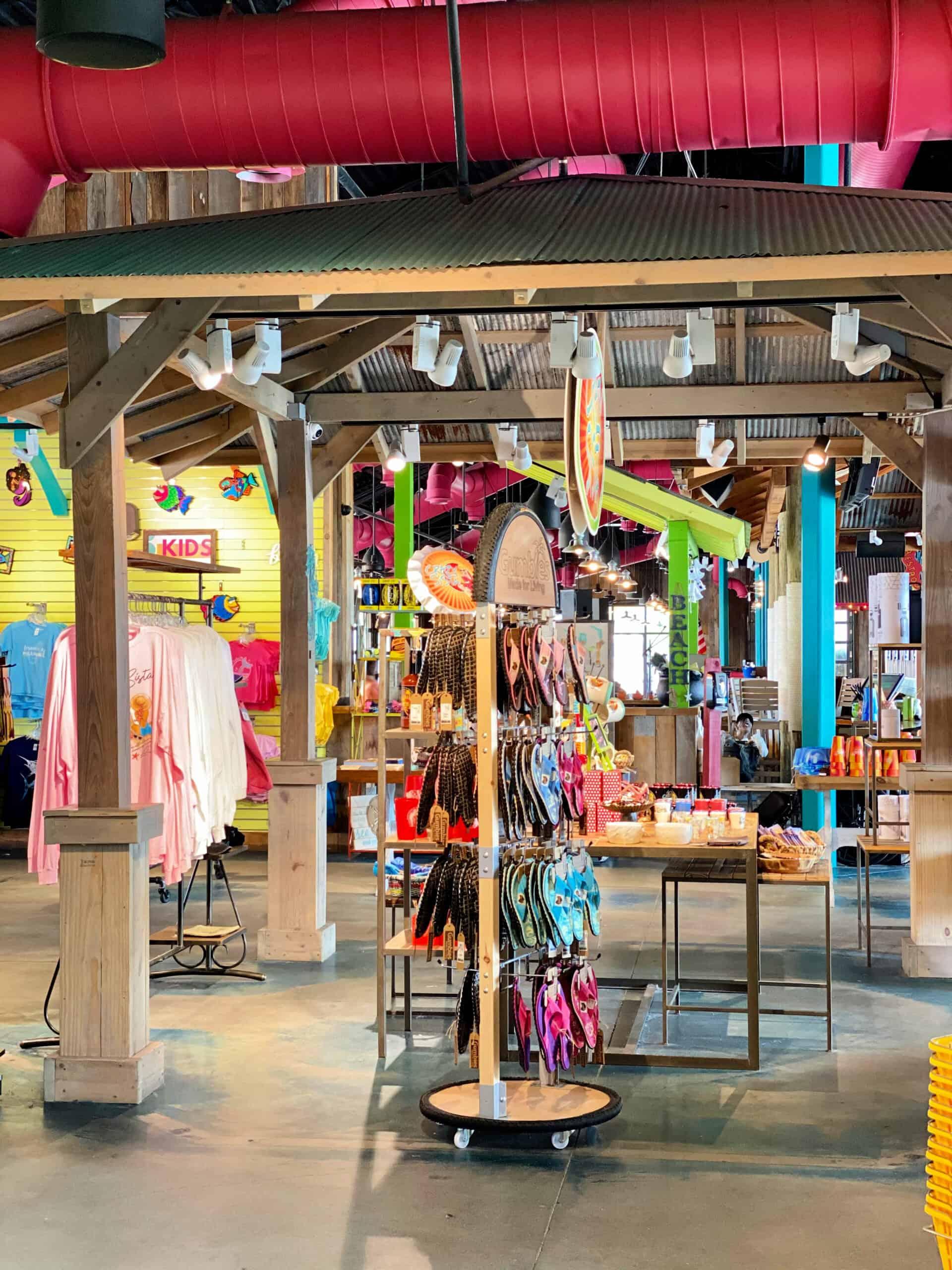 gift shop with flip flops