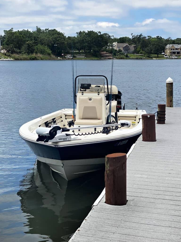 Saltwater Fishing Boat in bay