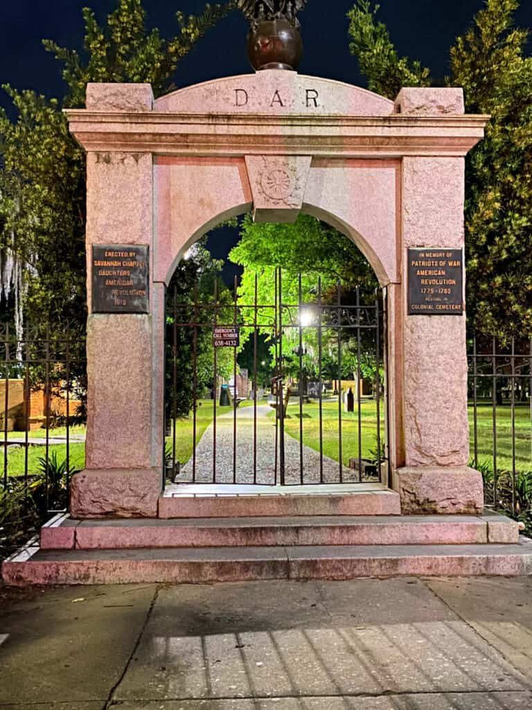 Daughters of the American Revolution gate