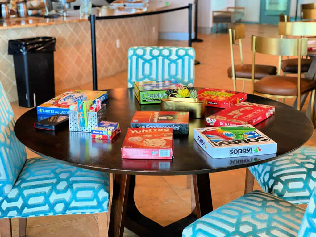 board games on a table