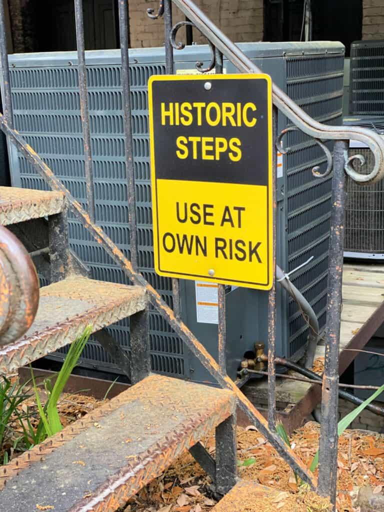historic steps sign