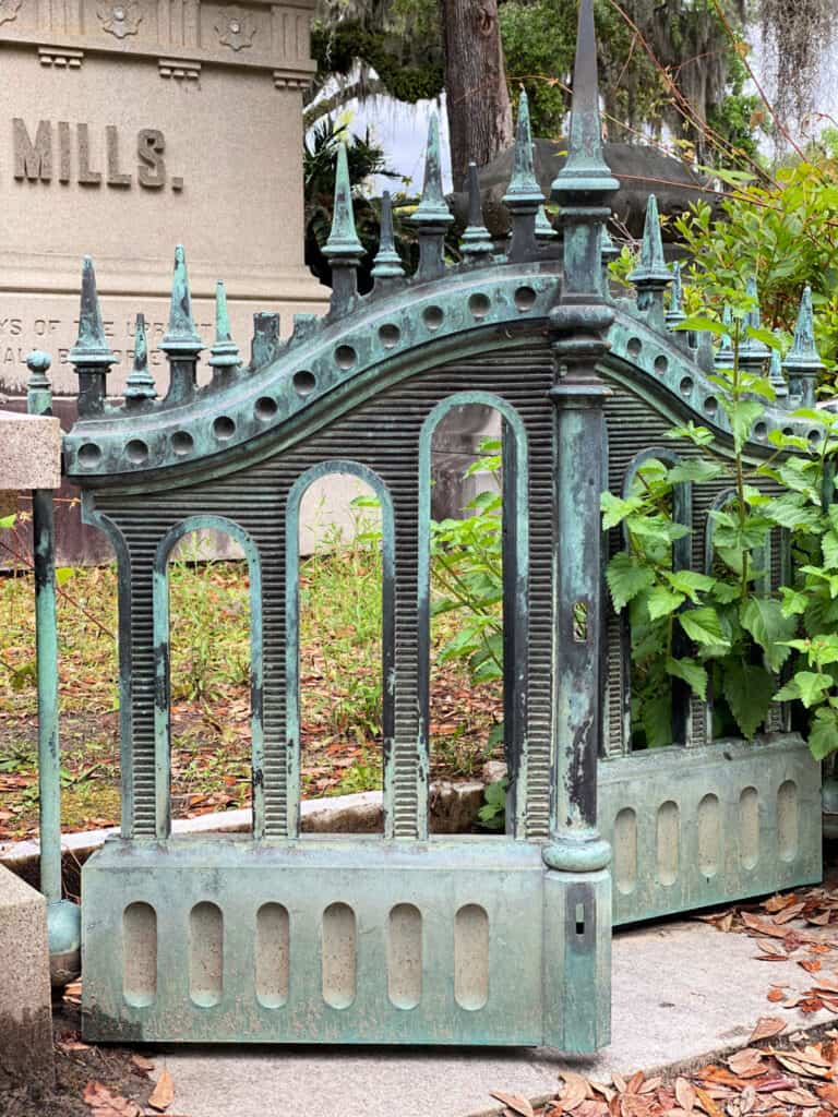 wrought iron gate at cemetery