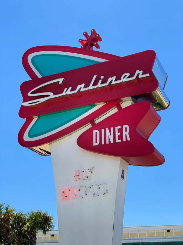 Sunliner Diner sign