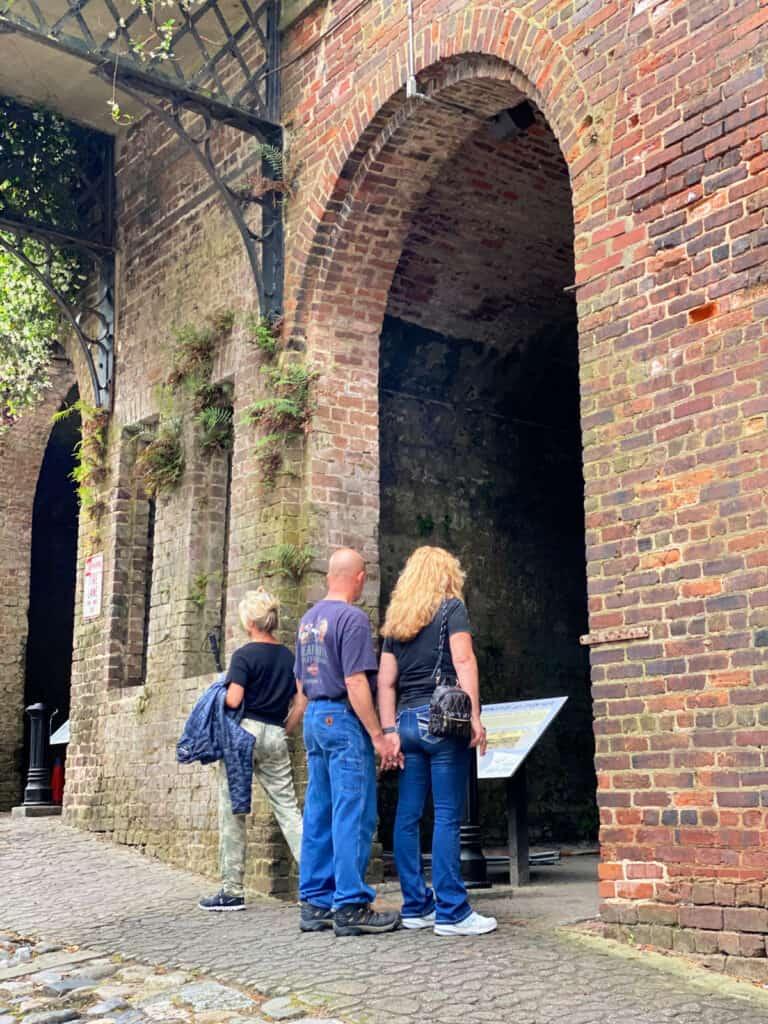 old brick Cluskey vault