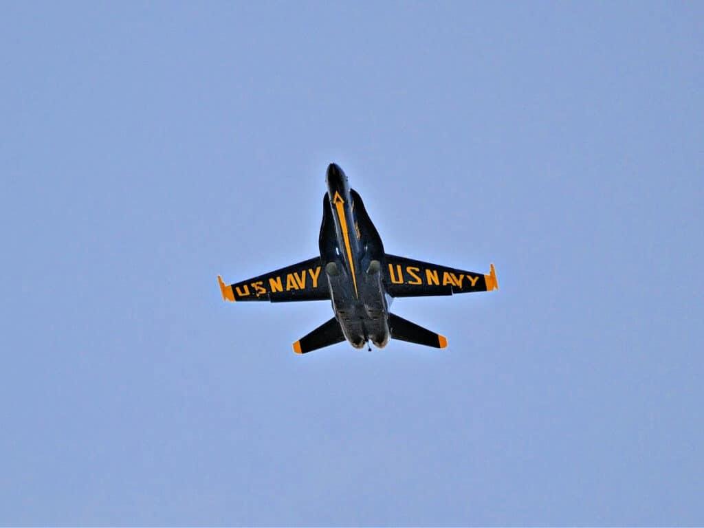 US Navy Blue Angel in flight