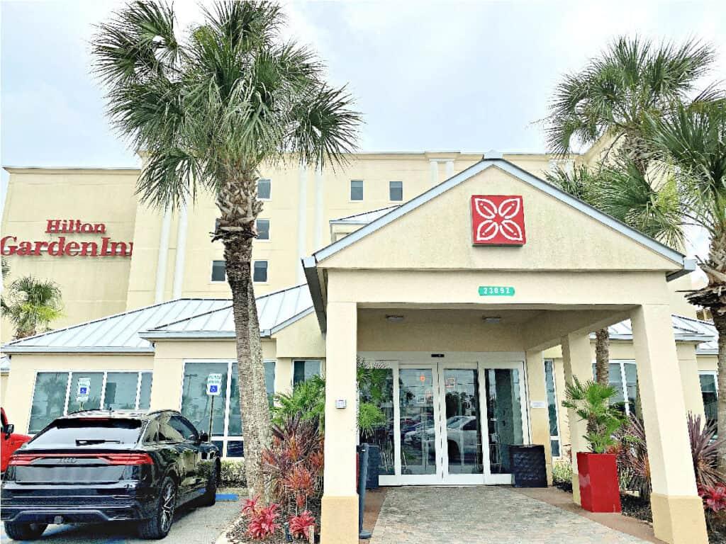 Front of Hilton Garden Inn in Orange Beach.