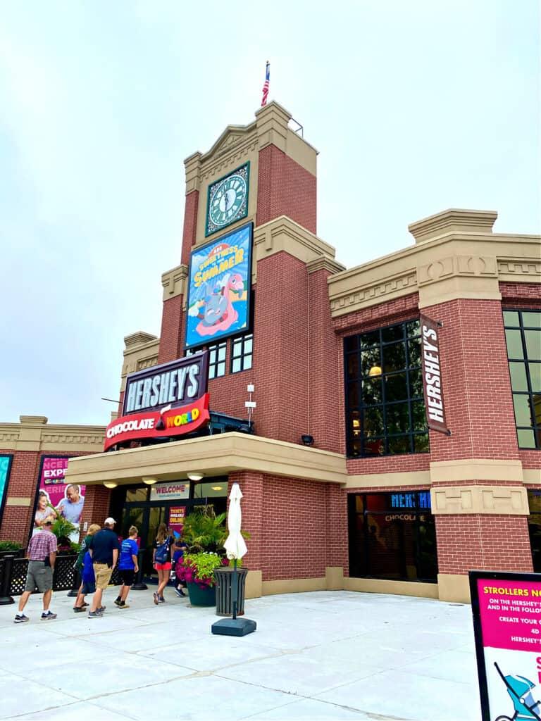 Entrance to Hershey's Chocolate World.