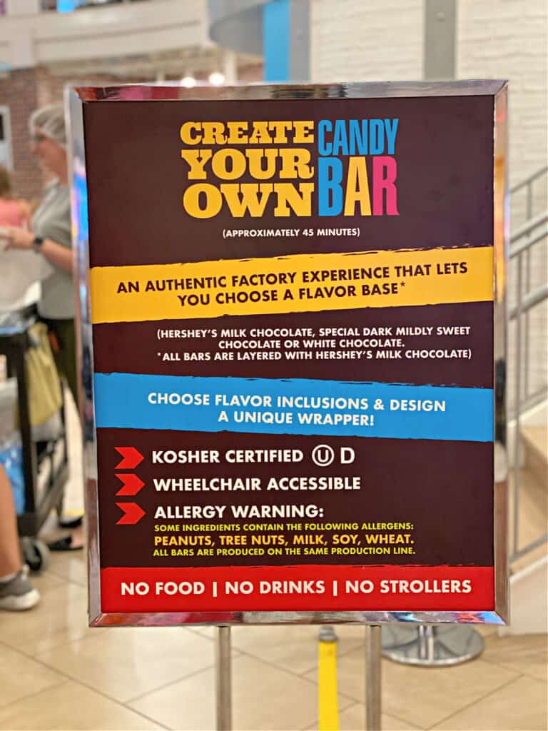 Create Your Own Candy Bar sign.