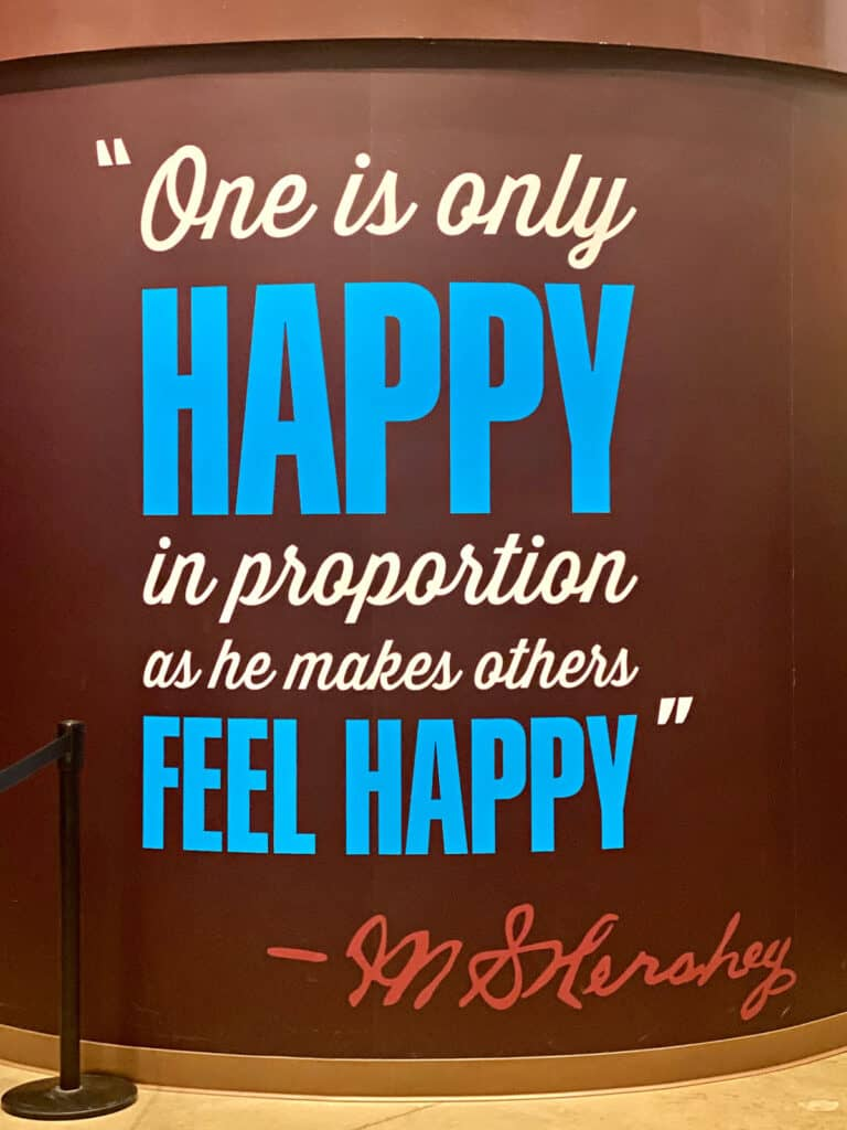 """""""One is only Happy in proportion as he makes others feel happy"""" sign."""
