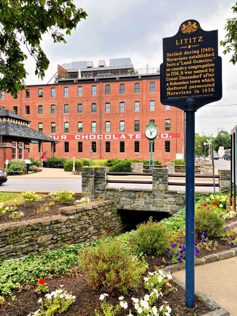Large red brick building in Pennsylvania.