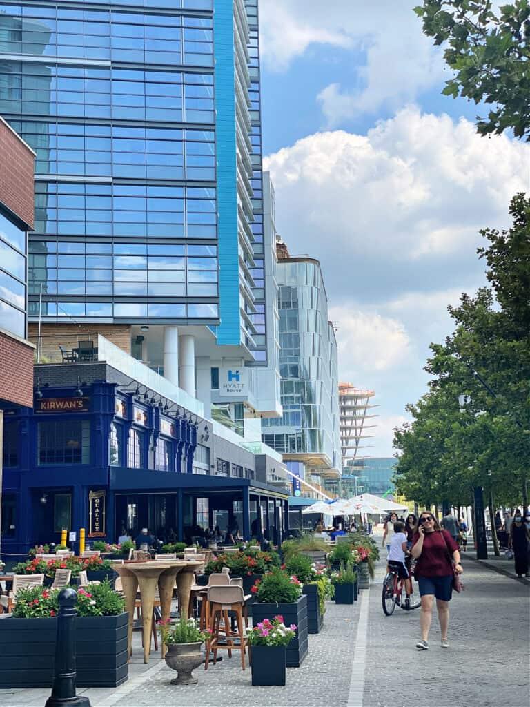 The Wharf area in Washington, DC.